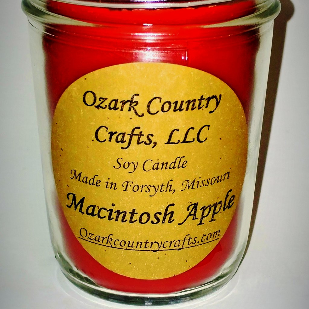 Macintosh Apple Soy Candle - Jelly Jar