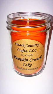 Pumpkin Crunch Cake Soy Candle - Jelly Jar