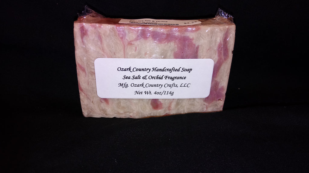 Ozark Country Handcrafted Moisturizing Soap - Sea Salt & Orchid Fragrance