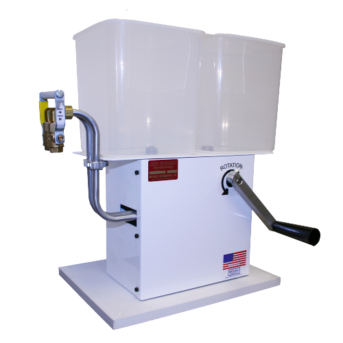 Low Cost Meter Mix Dispensing System - Hand Crank Driven