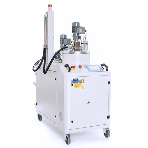 Two Part Adhesive Dispensing System with Vacuum Chamber