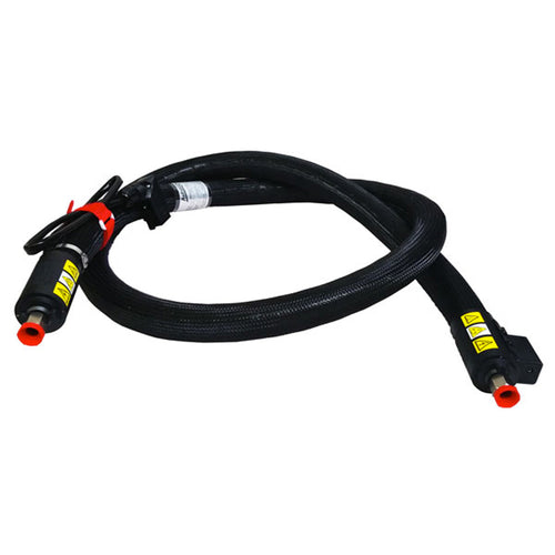 Premium braided, heated hot melt hose