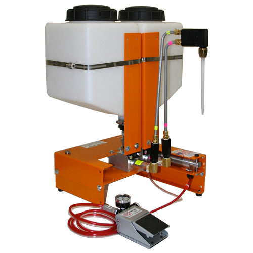 Benchtop dispensing pump system for epoxy or silicone potting