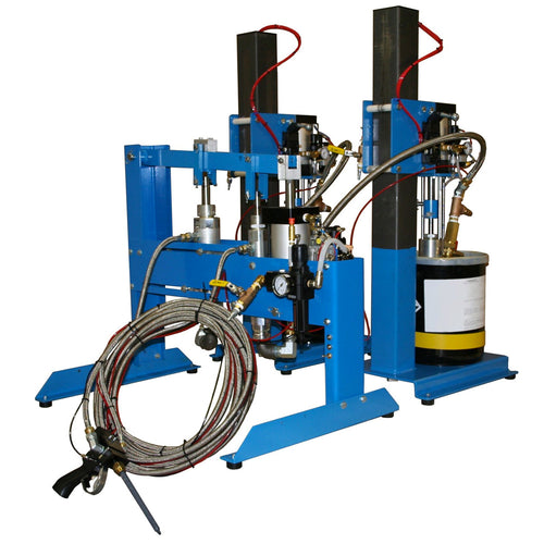 High volume dispensing pump system for two part materials