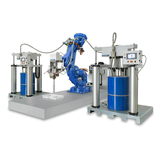 Automated dispensing system for potting high voltage batteries