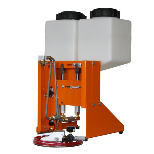 Benchtop two part dispensing system for moisture sensitive materials