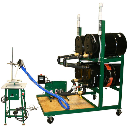 Benchtop dispensing system for 55 gallon drums