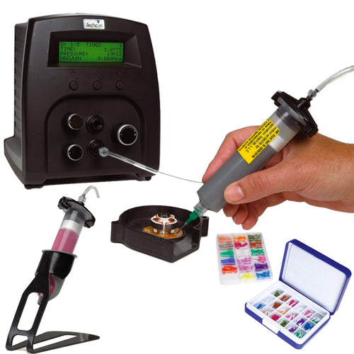 Advanced syringe benchtop dispensing system and pump