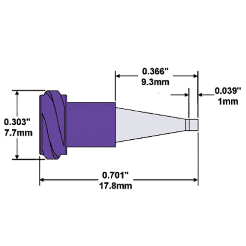 Metal Taper Tip Dispensing Needle