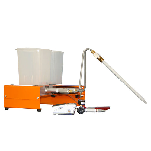 Two part benchtop dispensing system for potting applications