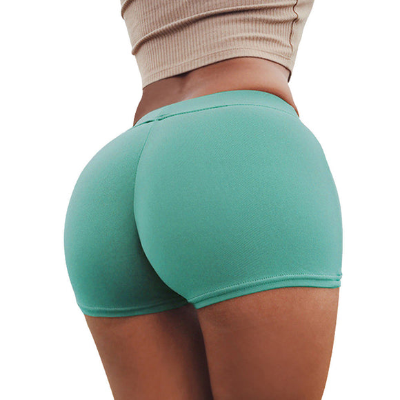 Summer Pants Women Sports Shorts Gym Workout Waistband Skinny Yoga Short Pants