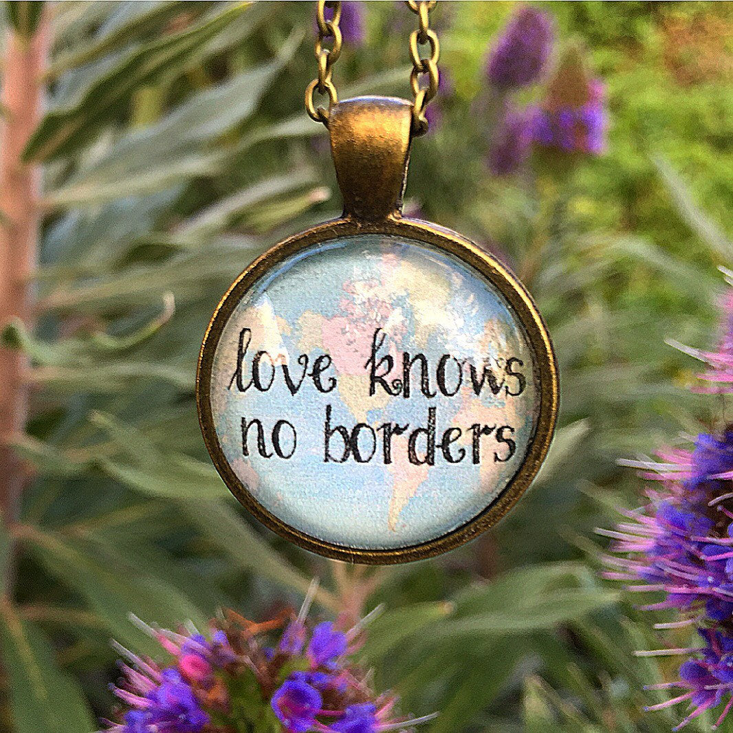 Love Knows No Borders Map Pendant Necklace - Redeemed Jewelry