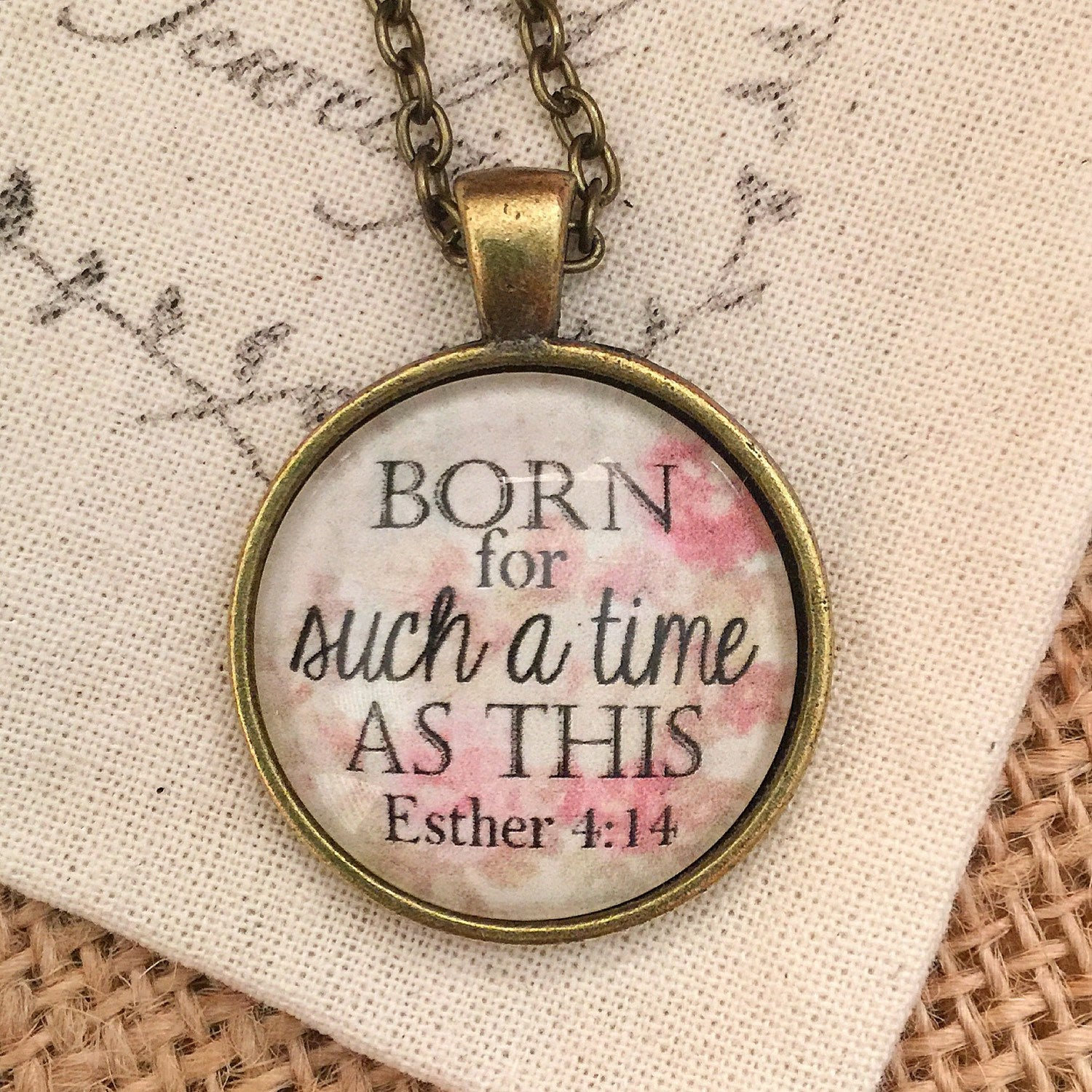 Born for Such a Time as This Esther 4:14 pendant necklace - Redeemed Jewelry