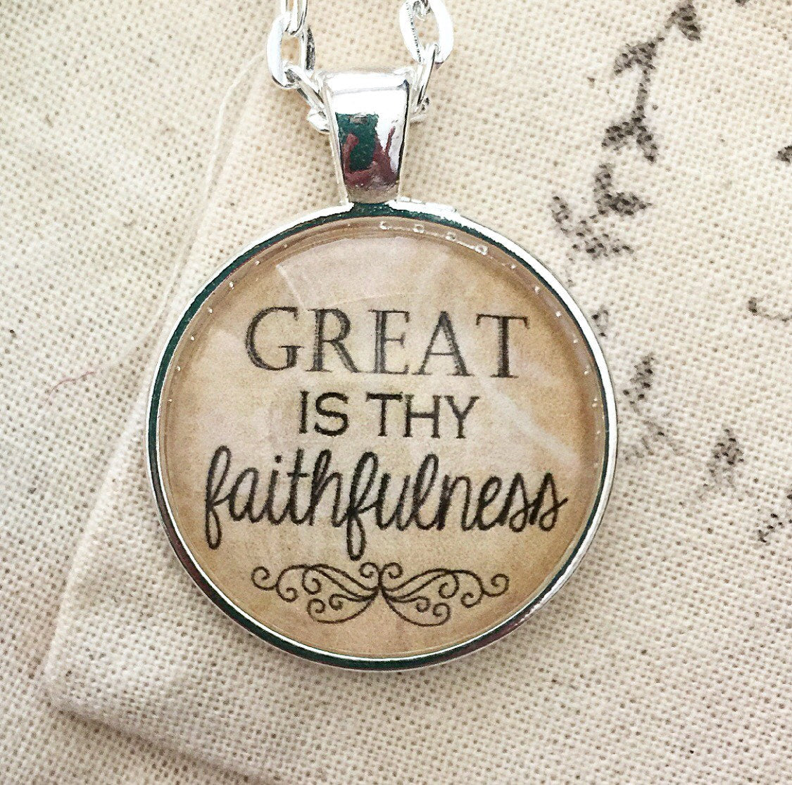 Great is Thy Faithfulness Necklace - Redeemed Jewelry