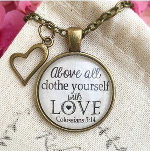 Colossians 3:14 Pendant Necklace - Redeemed Jewelry
