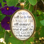 Zechariah 2:5 Necklace - Redeemed Jewelry