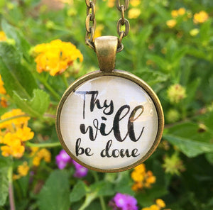 "Bible Verse Pendant Necklace ""Thy Will Be Done"" - Redeemed Jewelry"