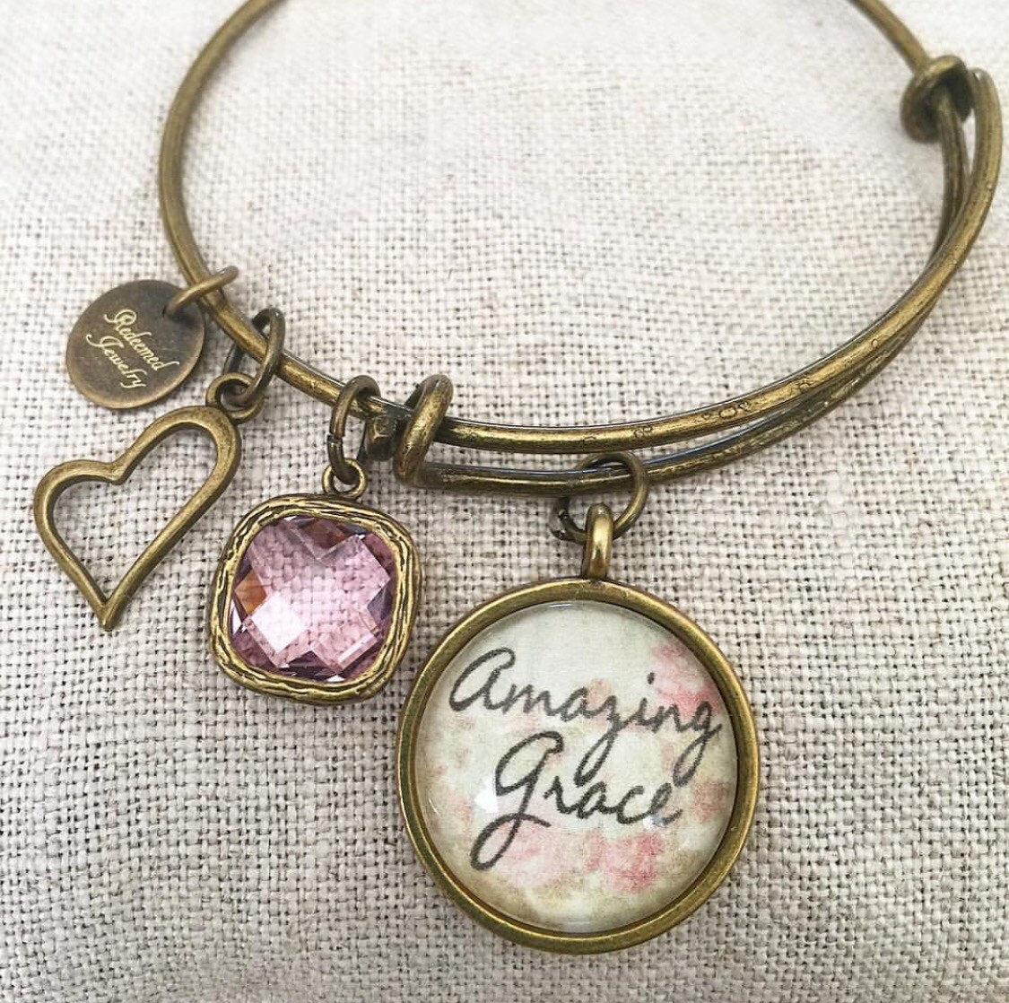 Amazing Grace Bangle Bracelet - Redeemed Jewelry