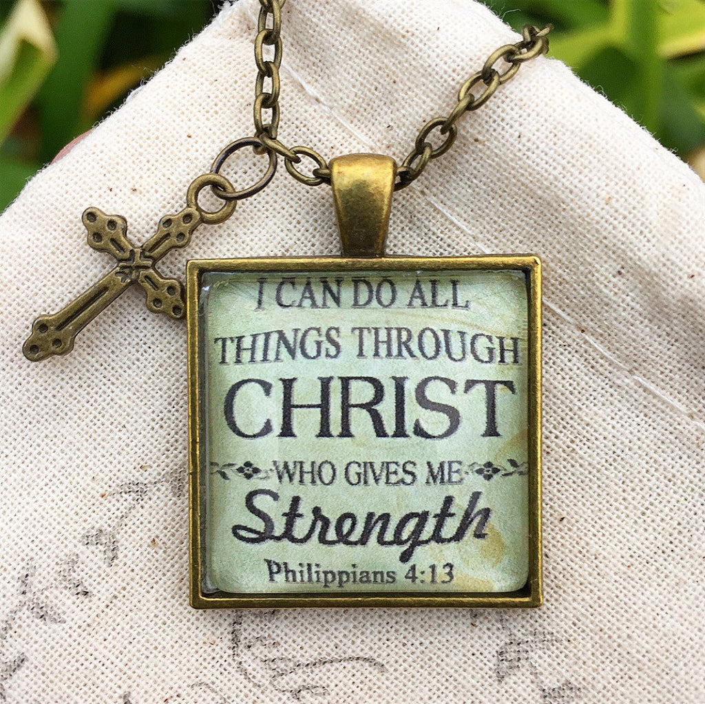 I can do all things through Christ who gives me strength. Philippians 4:13 Necklace - Redeemed Jewelry