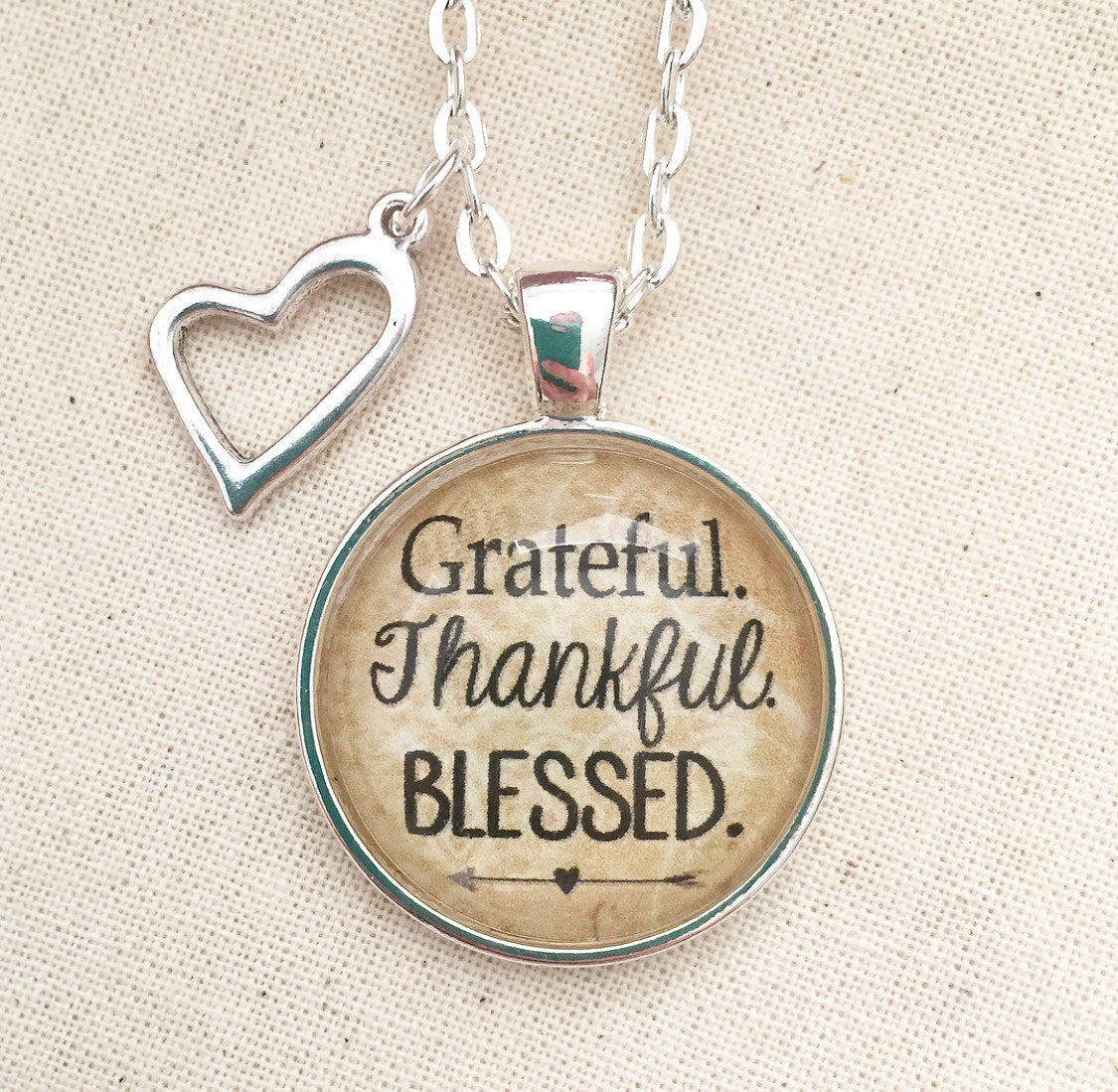 Grateful. Thankful. Blessed Pendant Necklace - Redeemed Jewelry