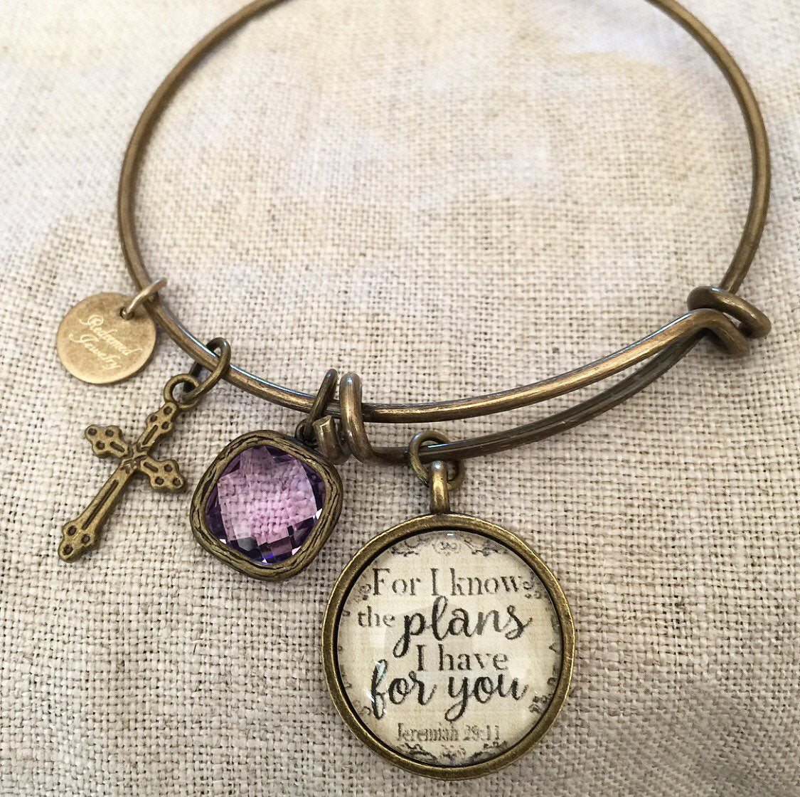 Jeremiah 29:11 Bangle Bracelet - Redeemed Jewelry