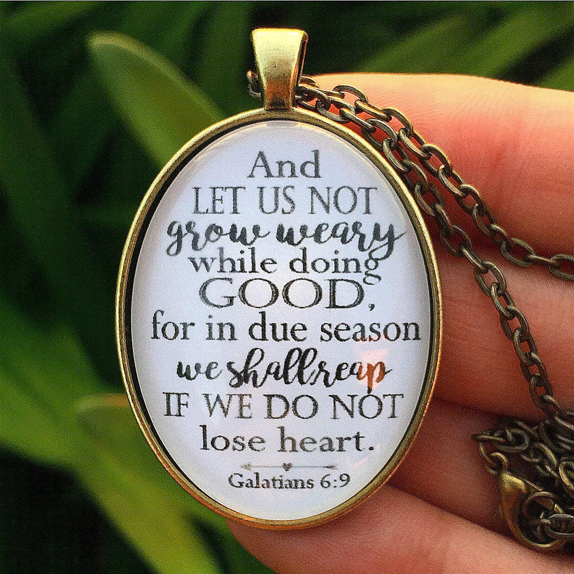 Galatians 6:9 Necklace - Redeemed Jewelry