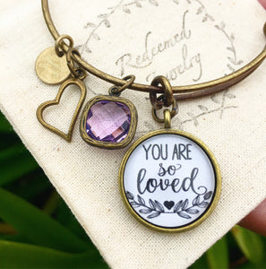 You are So Loved Bangle Bracelet - Redeemed Jewelry