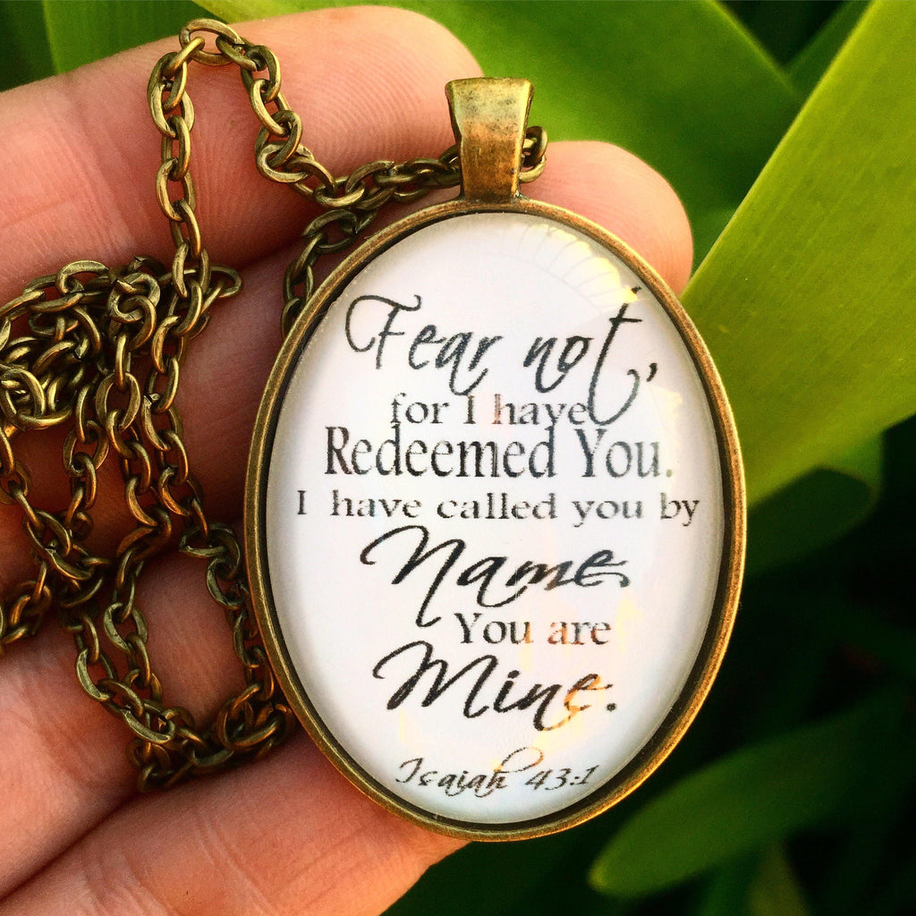 Isaiah 43:1 Necklace - Redeemed Jewelry