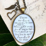 Loss of a Loved One Pendant Necklace - Redeemed Jewelry