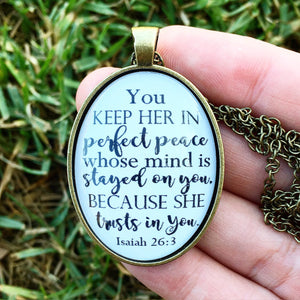Perfect Peace Necklace - Redeemed Jewelry