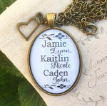 Mother's Custom Name Pendant Necklace - Redeemed Jewelry