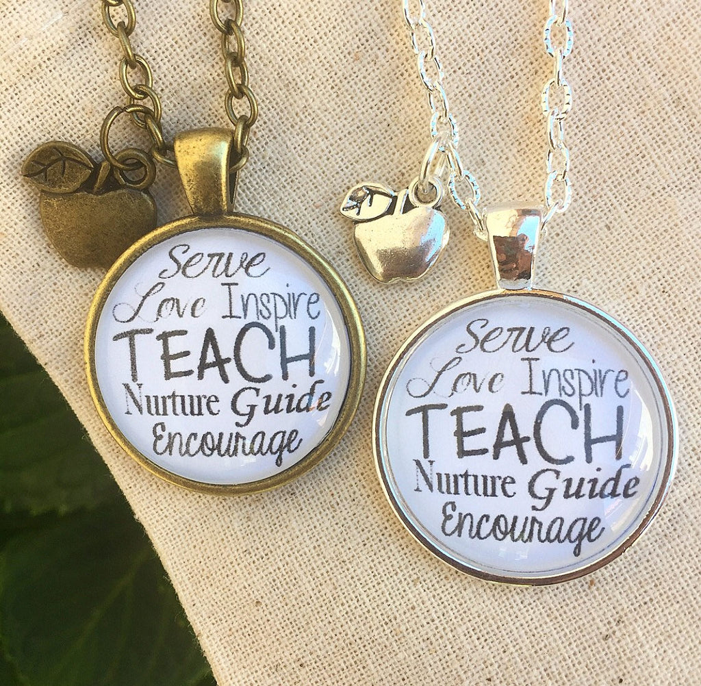 Teacher Gift Necklace - Redeemed Jewelry
