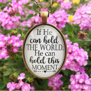 Hold This Moment Pendant Necklace - Redeemed Jewelry