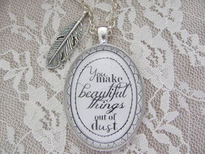 "Gungor ""You Make Beautiful Things"" Pendant Necklace - Redeemed Jewelry"