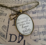 "Romans 8:38-39 Pendant Necklace ""Nothing can separate me from the love of God."" - Redeemed Jewelry"