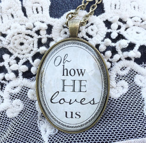 How He Loves Us Pendant Necklace - Redeemed Jewelry