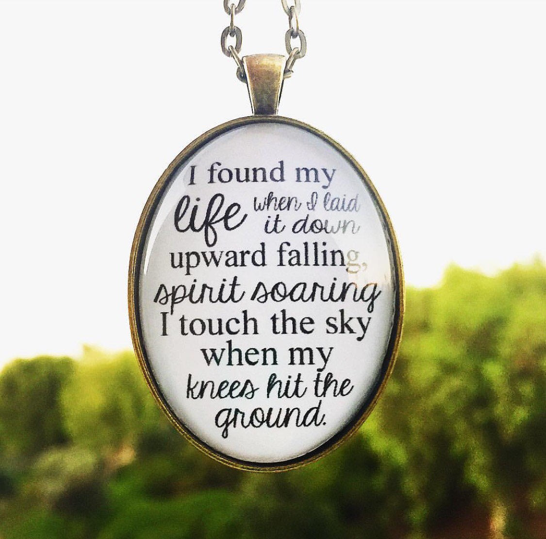 "Hillsong Oval Pendant Necklace ""Touch the Sky"" - Redeemed Jewelry"