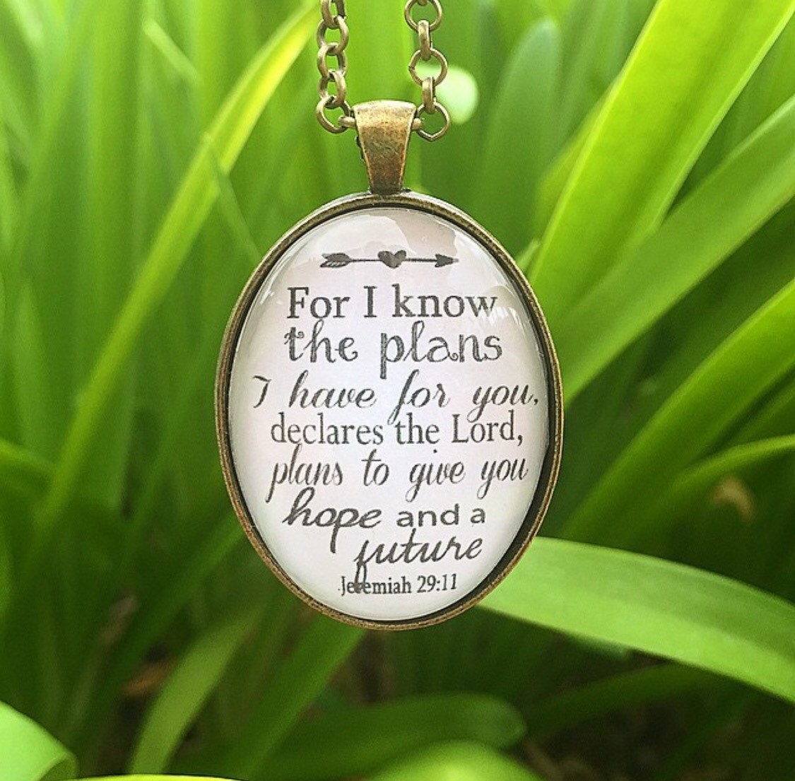 Jeremiah 29:11 Pendant Necklace - Redeemed Jewelry