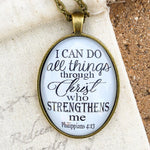I can do all things through Christ Necklace - Redeemed Jewelry