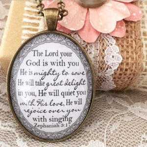 Zephaniah 3:17 Pendant Necklace - Redeemed Jewelry