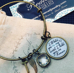 Hold you in My Heart Bangle Bracelet - Redeemed Jewelry