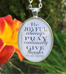 1 Thessalonians 5:16-18 Necklace - Redeemed Jewelry
