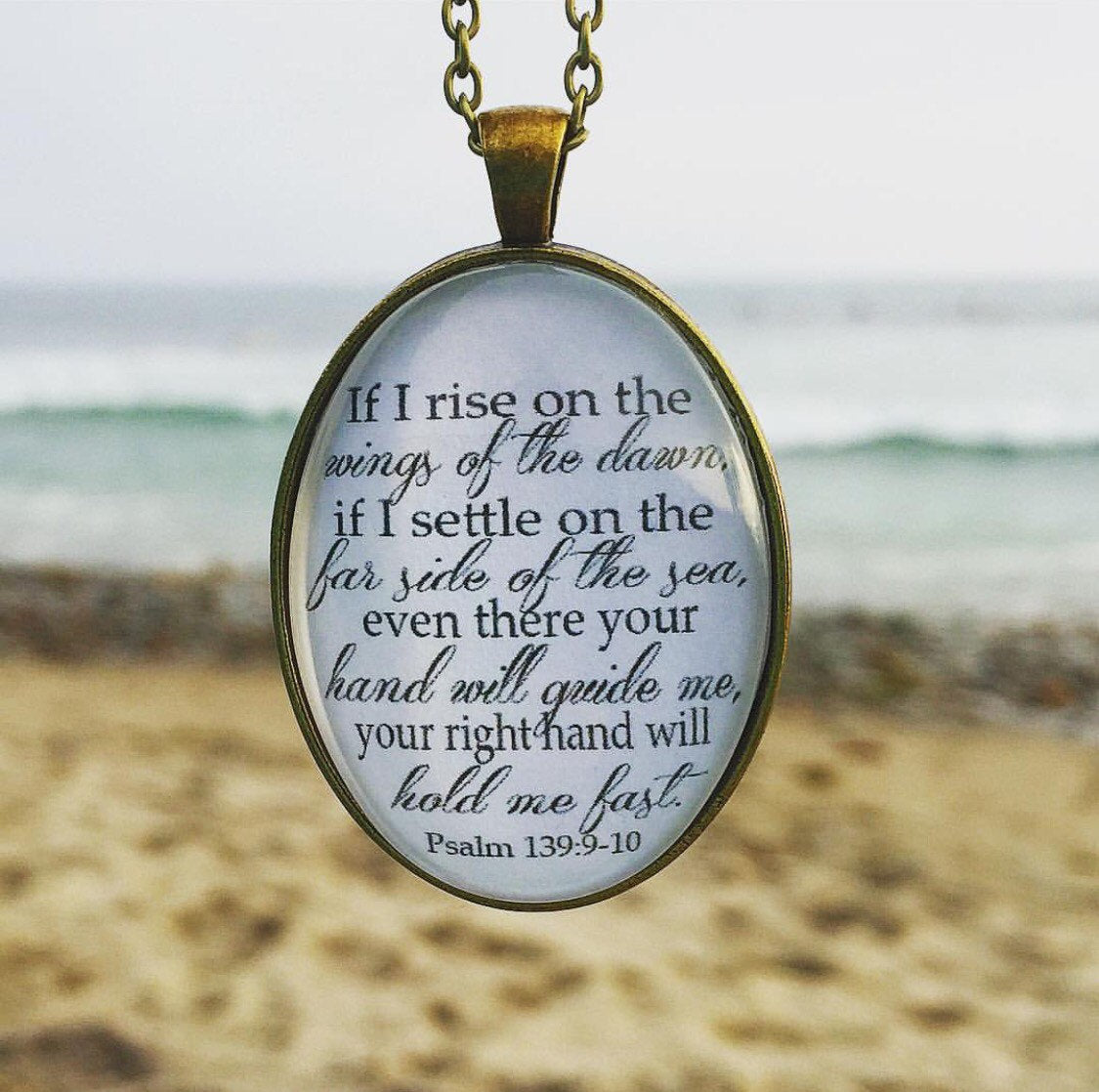 Psalm 139:9-10 Bible Verse Pendant Necklace - Redeemed Jewelry