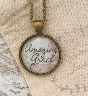 Amazing Grace pendant necklace - Redeemed Jewelry