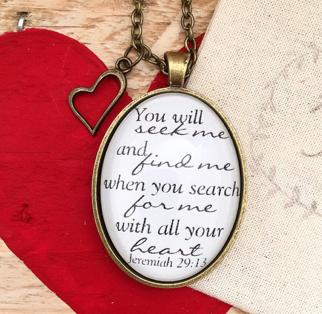 Jeremiah 29:13 Necklace - Redeemed Jewelry
