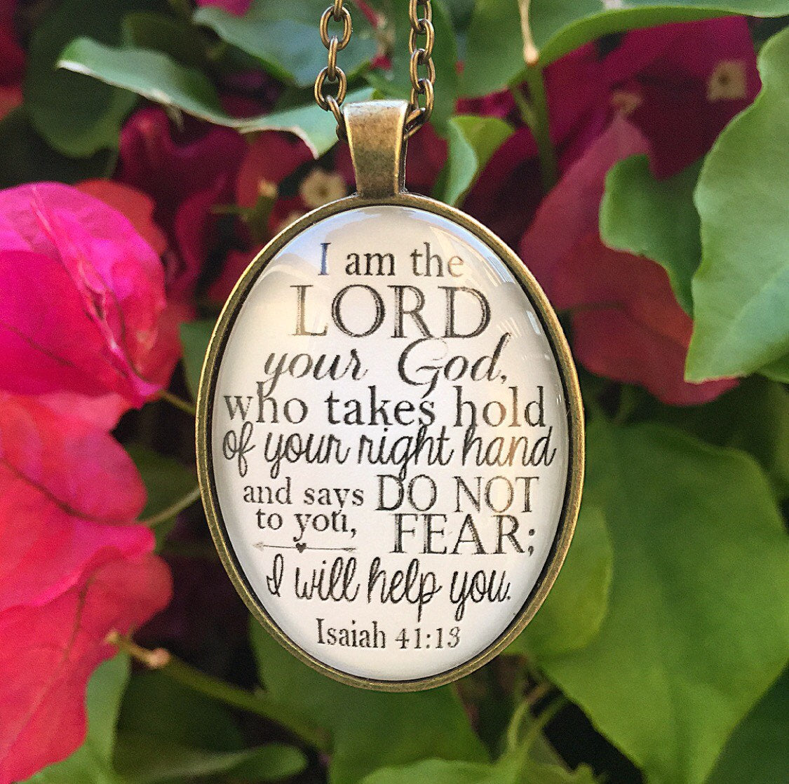 Isaiah 41:13 Necklace - Redeemed Jewelry