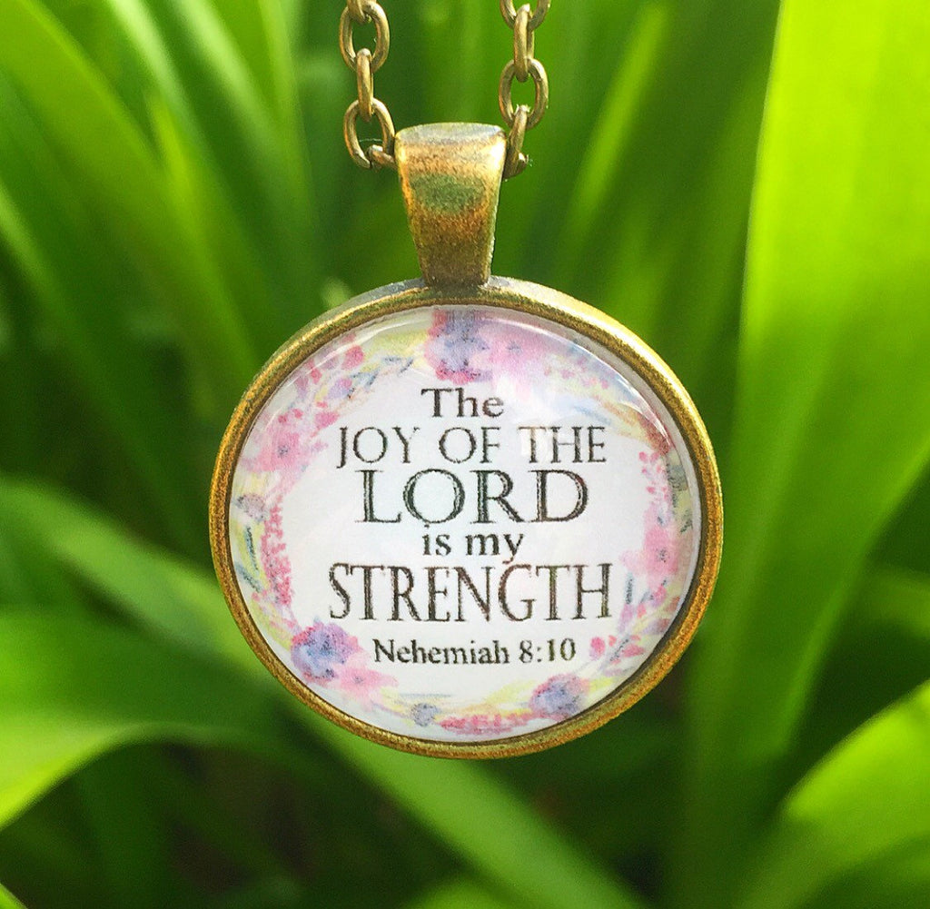 The Joy of the Lord is my Strength Pendant Necklace - Redeemed Jewelry