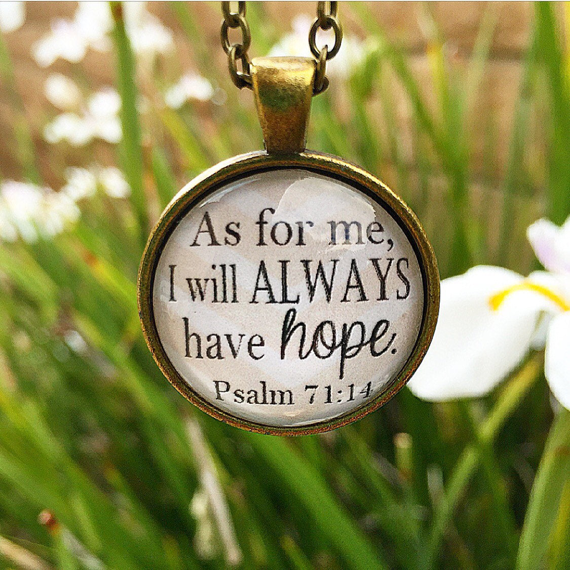 Psalm 71:14 Bible Verse Pendant Necklace - Redeemed Jewelry