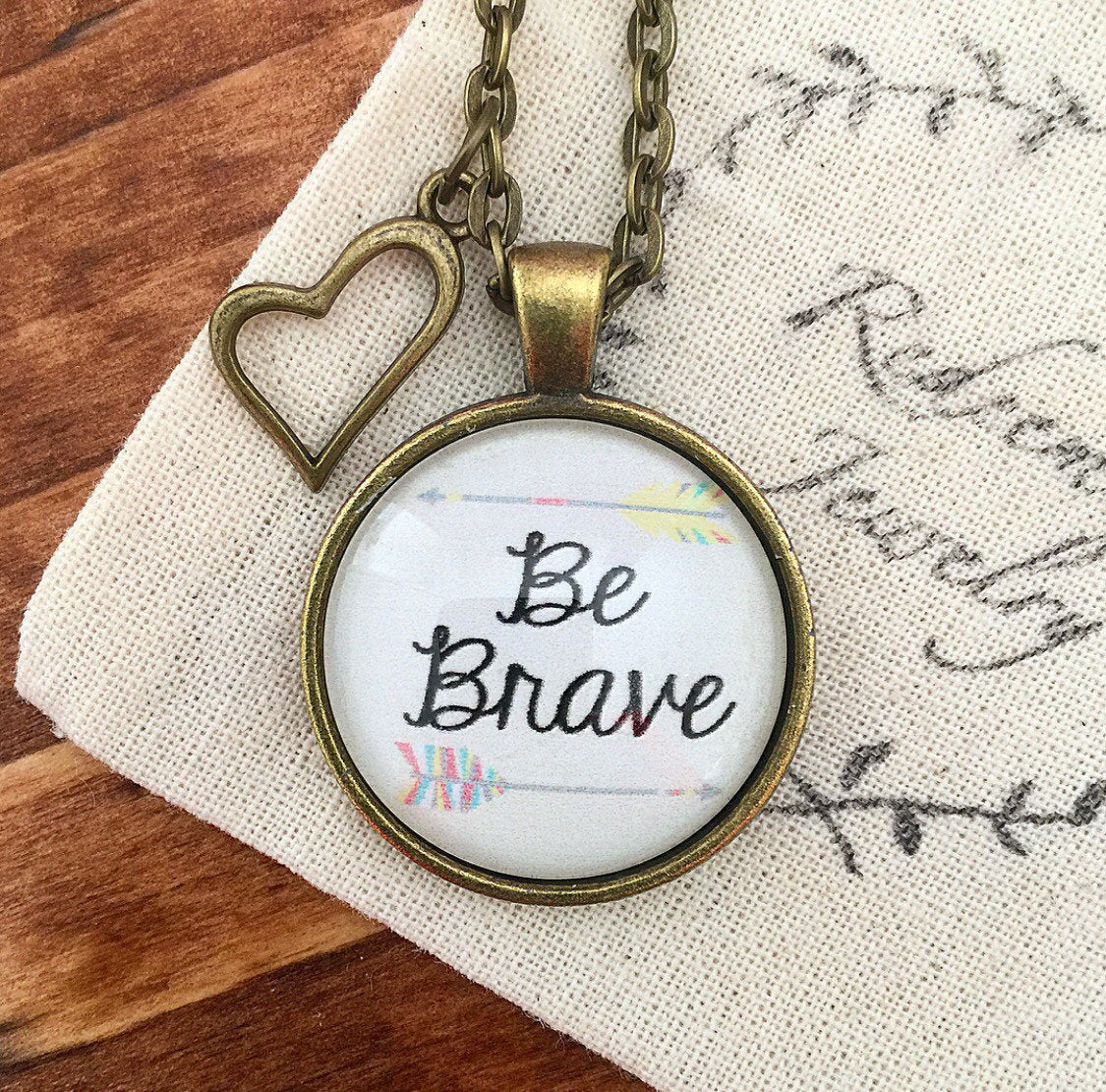 Be Brave Pendant Necklace - Redeemed Jewelry