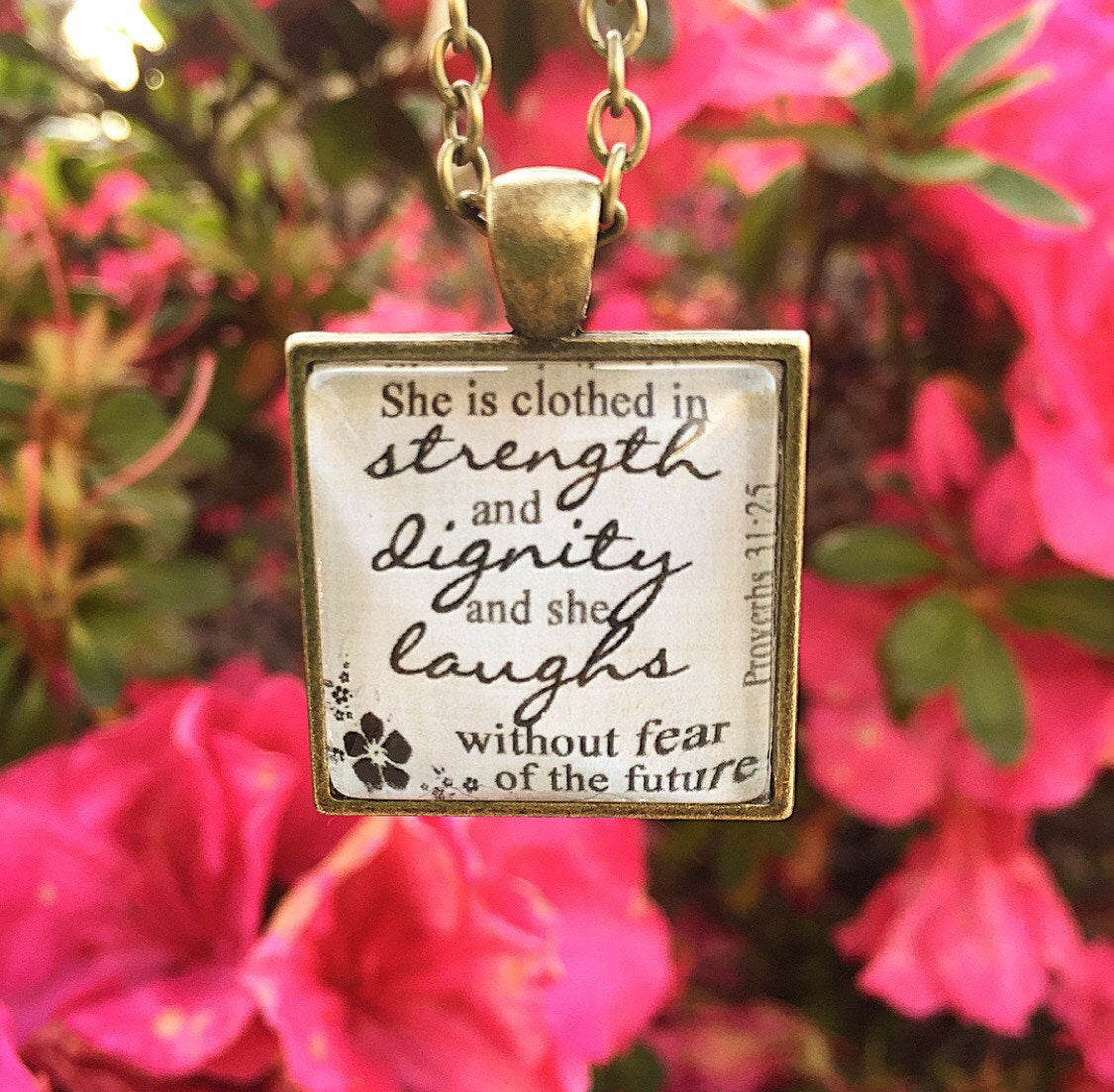 Proverbs 31:25 Necklace - Redeemed Jewelry